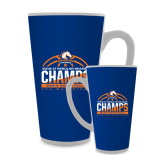 Full Color Latte Mug 17oz-2016-17 Regular Season Champs - Mens Basketball Half Ball