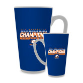 Full Color Latte Mug 17oz-2016-17 Regular Season Champions - Mens Basketball Stencil