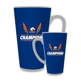 Full Color Latte Mug 17oz-2017 Sun Belt Champions - Mens Indoor Track and Field Wings