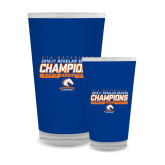 Full Color Glass 17oz-2016-17 Regular Season Champions - Mens Basketball Stencil