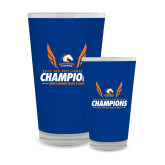 Full Color Glass 17oz-2017 Sun Belt Champions - Mens Indoor Track and Field Wings