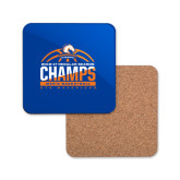 Hardboard Coaster w/Cork Backing-2016-17 Regular Season Champs - Mens Basketball Half Ball