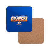 Hardboard Coaster w/Cork Backing-2016-17 Regular Season Champions - Mens Basketball Stencil