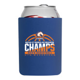Collapsible Royal Can Holder-2016-17 Regular Season Champs - Mens Basketball Half Ball