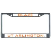 Metal License Plate Frame in Black-Blaze