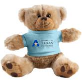 Plush Big Paw 8 1/2 inch Brown Bear w/Light Blue Shirt-Secondary Mark