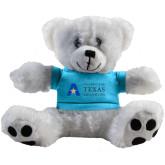Plush Big Paw 8 1/2 inch White Bear w/Light Blue Shirt-Secondary Mark