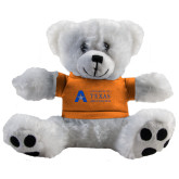Plush Big Paw 8 1/2 inch White Bear w/Orange Shirt-Secondary Mark