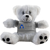 Plush Big Paw 8 1/2 inch White Bear w/Grey Shirt-Secondary Mark