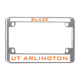 Metal Motorcycle License Plate Frame in Chrome-Blaze