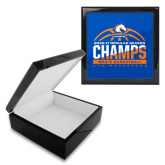 Ebony Black Accessory Box With 6 x 6 Tile-2016-17 Regular Season Champs - Mens Basketball Half Ball