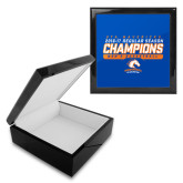Ebony Black Accessory Box With 6 x 6 Tile-2016-17 Regular Season Champions - Mens Basketball Stencil
