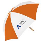 62 Inch Orange/White Umbrella-Secondary Mark