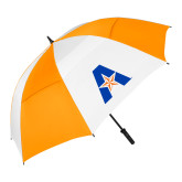 62 Inch Orange/White Umbrella-A with Star