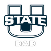Dad Decal-Dad, 6 inches tall