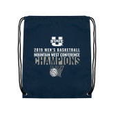 Navy Drawstring Backpack-2019 Mens Basketball Champions - Net