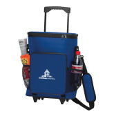 30 Can Blue Rolling Cooler Bag-University Mark Stacked