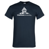 Navy T Shirt-University Mark Stacked