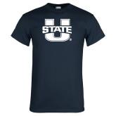 Navy T Shirt-Primary Mark Athletics