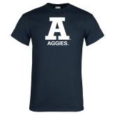 Navy T Shirt-A Aggies