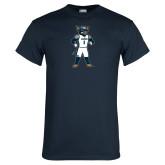 Navy T Shirt-Big Blue Basketball