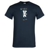 Navy T Shirt-Big Blue Football