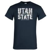 Navy T Shirt-Block Stacked
