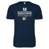 Next Level SoftStyle Navy T Shirt-2019 Mens Basketball Champions - Net