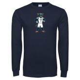 Navy Long Sleeve T Shirt-Big Blue Basketball