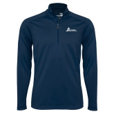 Syntrel Navy Interlock 1/4 Zip-University Mark Horizontal