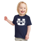 Toddler Navy T Shirt-Primary Mark Athletics