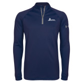 Under Armour Navy Tech 1/4 Zip Performance Shirt-University Mark Horizontal