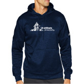 Adidas Navy Team Issue Hoodie-University Mark Horizontal