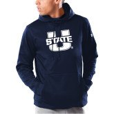 Under Armour Navy Armour Fleece Hoodie-Primary Mark Athletics