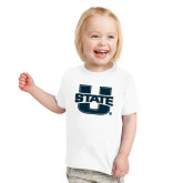 Toddler White T Shirt-Primary Mark Athletics
