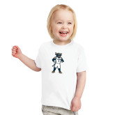 Toddler White T Shirt-Big Blue Basketball