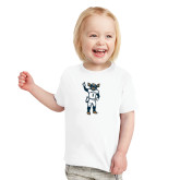 Toddler White T Shirt-Big Blue Football