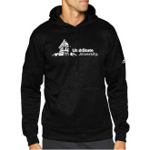 Adidas Black Team Issue Hoodie-University Mark Horizontal