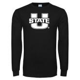 Black Long Sleeve T Shirt-Primary Mark Athletics