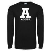 Black Long Sleeve T Shirt-A Aggies