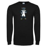 Black Long Sleeve T Shirt-Big Blue Basketball