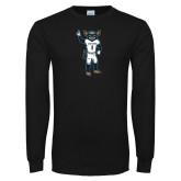Black Long Sleeve T Shirt-Big Blue Football