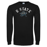 Black Long Sleeve T Shirt-U State Arched