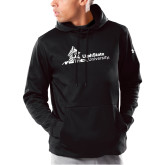 Under Armour Black Armour Fleece Hoodie-University Mark Horizontal