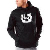 Under Armour Black Armour Fleece Hoodie-Primary Mark Athletics