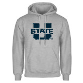Grey Fleece Hoodie-Primary Mark Athletics