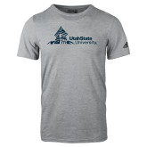 Adidas Sport Grey Logo T Shirt-University Mark Horizontal