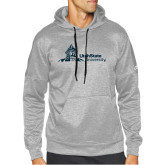 Adidas Grey Team Issue Hoodie-University Mark Horizontal