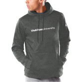 Under Armour Carbon Armour Fleece Hoodie-University Wordmark Flat