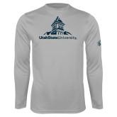 Performance Platinum Longsleeve Shirt-University Mark Stacked